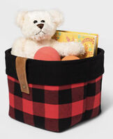 Threshold Red/Black Buffalo Checkered Storage Basket 8 In Wide X 6 in Tall - New