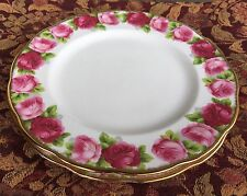 2 Shinny Royal Albert Old Bone China Old English Rose Dinner Plates