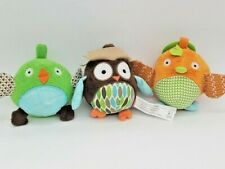Skip Hop Owl & Friends Ball Trio Baby Rattles & Chimes 0+ Months
