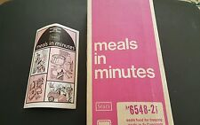 1973 Sears Roebuck Seal-N=Save - Meals in Minutes Sealing Machine w/ Pouches