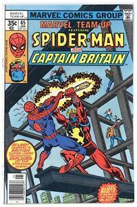 Marvel Team-Up 65 origin + 1st U.S. app Captain Britain! 1978 Marvel (j#6726)