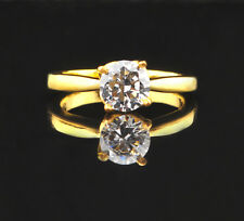 Wonderful Round Shape Solitaire Women's Ring 2.00 Carat 14Kt Solid Yellow Gold