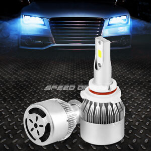 PAIR UNIVERSAL 6000K LED 9006 CAR LAMP REPLACEMENT HEADLIGHT BULBS w/COOLING FAN
