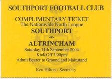 Ticket - Southport v Altrincham 11.09.2004