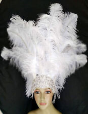 New Prime Ostrich Plumes Feather Carnival  Headdress- Showgirl  MADE IN USA