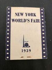 1939 New York Worlds Fair Flip Book Bromo Seltzer Hula girl Vintage