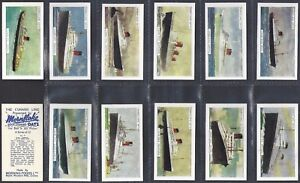 MORNING FOODS-FULL SET- CUNARD LINE (BLUE BACK) SHIPS SHIPPING (12 CARDS) EXC+++