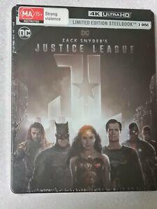 Zackw Snyder`s Justice League:Ltd 4k Steelbook(4k Blu ray,2021,2 Disc Set)NEW/SE