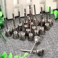 20X 3mm Shank Mandrel Steel Wire Cup Brush Cleaner For Drill Rotary Tool Grinder