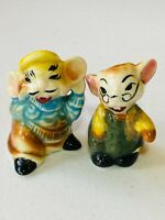 Vintage Anthropomorphic Mice Salt & Pepper Shakers Japan