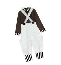 Boys Oompa Loompa Fancy Dress Costume Kids Child Factory Worker Book Week Outfit