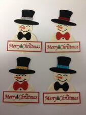 WHOLESALE 20 Merry Christmas Snowman Card Making Scrapbook Craft Embellishments
