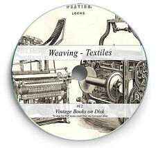 Weaving Textile Design Patterns Rare Books 160 on DVD Art Craft Spinning Loom E2