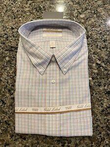 GOLD LABEL ROUNDTREE & YORKE NON-IRON MEN'S 18.5/34/35 DRESS SHIRT