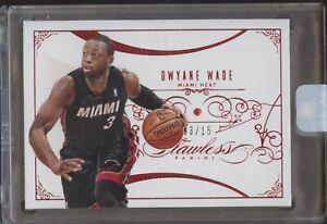 2013-14 Panini FLAWLESS RUBY Dwyane Wade Miami Heat 3/15