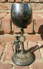 Antique Silver Archery Trophy Goblet Art Deco WME 7/0 Figure STUNNING NICE!!!