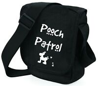 Dog Bag Pooch Patrol with Dog Shoulder Bags Handbag Birthday Gift for Dog Walker