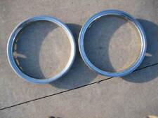 """OEM Original GM 16"""" Stainless Steel Beauty Rings TRIM RING SET Of 2 2.75"""" Deep 2"""