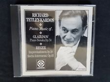 Piano Music of Glazunov & Reger. Richard Tetley-Kardos RARE!