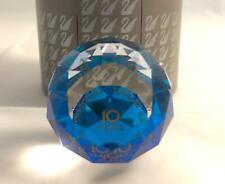 Swarovski Crystal Jewelry U.S. 10 Years Service Award Paperweight