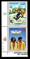 Olympic Paraguay 1989 pair of stamps Mi#4279 MNH