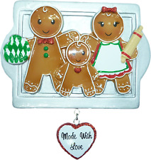 Personalised Christmas Decoration - Gingerbread Family