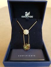Swarovski Y-shaped Necklace with Round Yellow Crystal