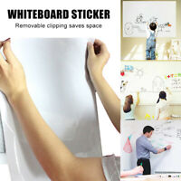 Reusable Roll Up White Board Sticker Easy Erase Whiteboard Sticker with 3 Pens