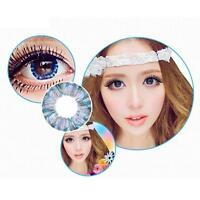 1 Pairs Contact Lenses Dreamy Color Soft Big Eye Cosmetic Lenses Blue Clover AH
