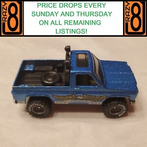 Hot Wheels Real Riders 1983 Bywayman Metallic Blue Grey Hubs EAGLE Excellent