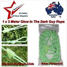 1x Glow in The Dark Guy Rope Length 3m x4mm Diameter tent awning luminous cord