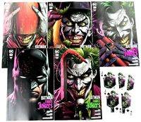 BATMAN THREE JOKERS #1 SET OF 5 REG/PREMIUM COVERS +5 Playing Cards w/Mylites NM