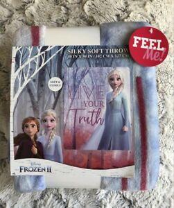 NEW Disney FROZEN 2 II ELSA Silky Soft THROW BLANKET Live Your Truth Purple Gift