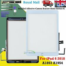 For iPad 6 2018 A1893 A1954 Touch Screen Digitizer + IC Button & Adhesive White