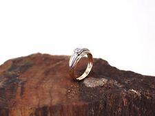 Diamant Ring aus 585/14k Gelb-& Weißgold   mit einen Diamanten