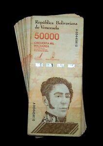 25 pcs x Venezuela 50000 Bolivares banknotes-2019 issue - CIRCULATED