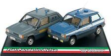 """FIAT PANDA 45 SET """"PANDA IN DIVISA"""" GdF + POLIZIA STRADALE CINOFILI BRUMM DC008"""