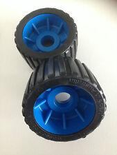 BOAT TRAILER WOBBLE ROLLERS - BLACK/BLUE  x 8 - AUSTRALIAN MADE