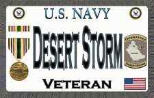 Navy - Desert Storm - Magnetic Car Sign - 6in X 3.75in