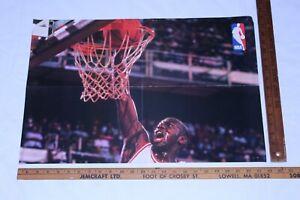 VTG 1989 Michael Jordan NBA Poster Original Special Part A Wheaties Cereal Rare