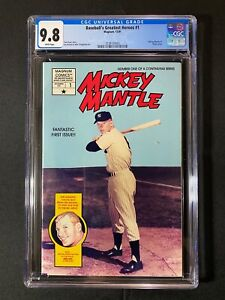 Baseball's Greatest Heroes #1 CGC 9.8 (1991) - Mickey Mantle #1 photo cover
