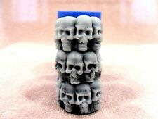 """Skulls"" silicone mold for soap and candles making mould molds halloween fun"