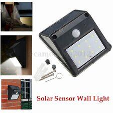 12 LED Lámpara Solar Wireless PIR Sensor Movimiento Light Jardín Patio Luz Pared
