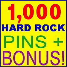 1,000 PINS! Hard Rock Cafe HUGE Pin Collection BIG LOT
