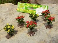 6-STÜCK Jordan Büsche blühend 1,5 cm hoch für H0    9A