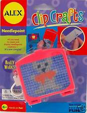 Clip Crafts NEEDLEPOINT Kit ALEX Clip-On travel Self-contained MINI Basic Fun
