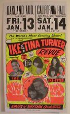 IKE & TINA TURNER REVUE GLOBE CONCERT TOUR POSTER