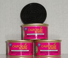 California Scents 3 Duftdosen Coronado Cherry  ► Kirsche + 1 Deckel