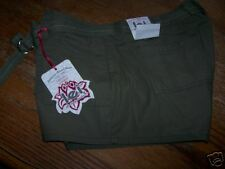 NEW womans LEI JEANS green shorts 15 JR w/belt CHELSEA