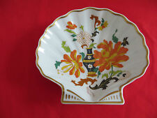 Limoges France Vintage  Colorful Guilded Floral Scallop Shell  Candy Dish